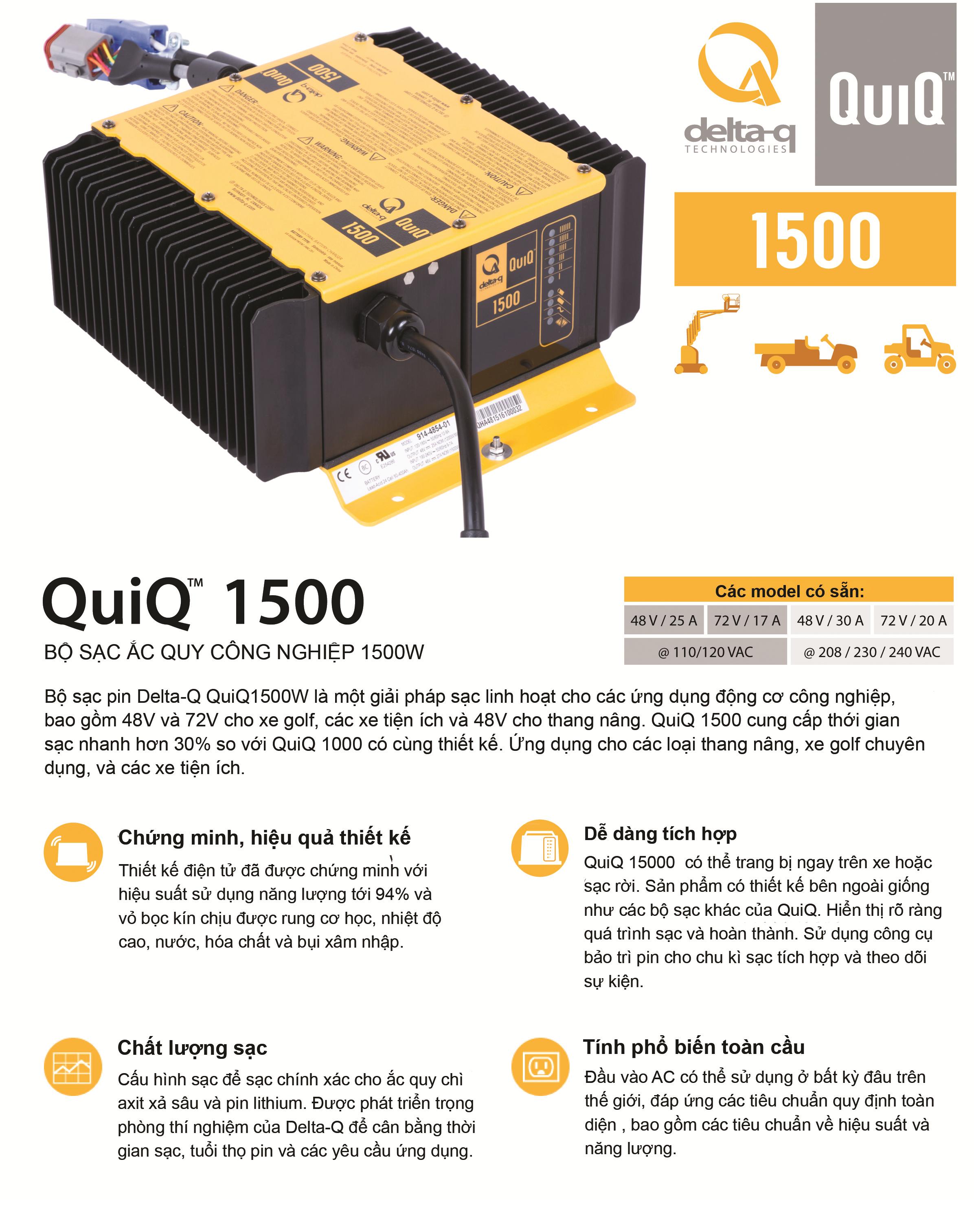 máy sạc delta Q (Quiq 1500)
